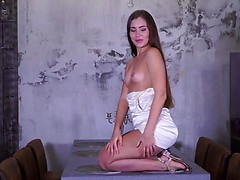 At 23, Mary Rock knows what she wants and how to get it. This Russian babe is always buying new toys to try on her bare fuck hole. Today's candidate is a Rabbit vibrator that she puts to work pounding her cum hungry pussy and stimulating her clit until h